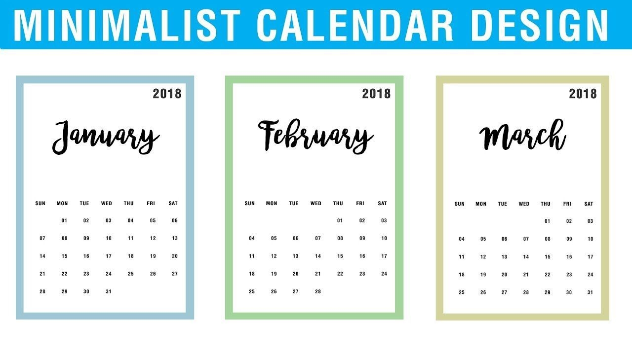 How To Design Calendar In Photoshop Cc | Minimalist Calendar