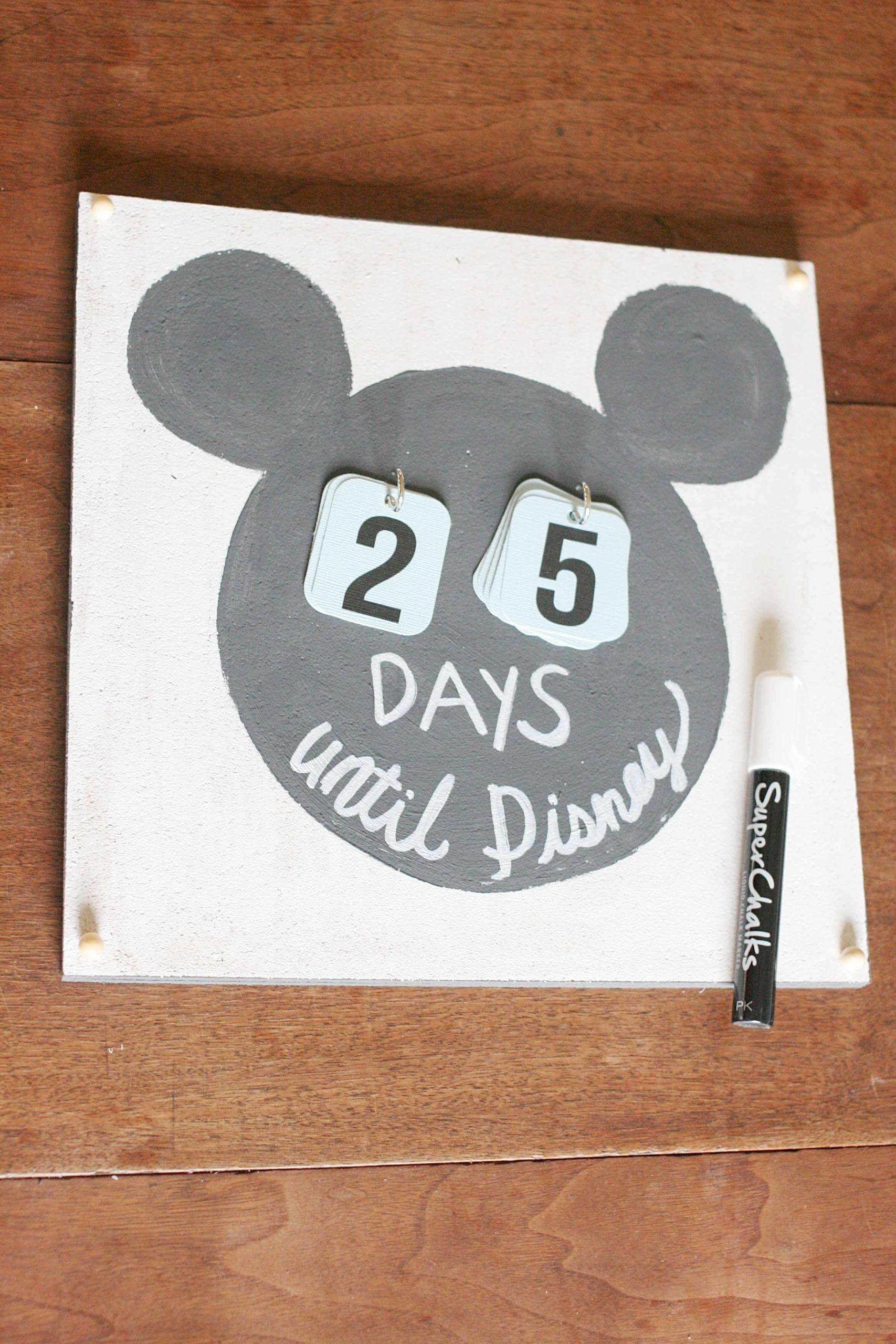 How To Make A Disney Countdown Calendar ( Video Tutorial