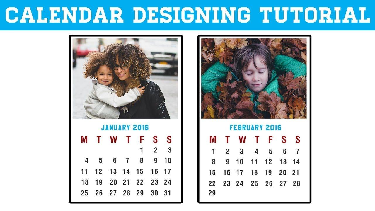 how to make calendar in photoshop cc, cs6 | photoshop calendar design