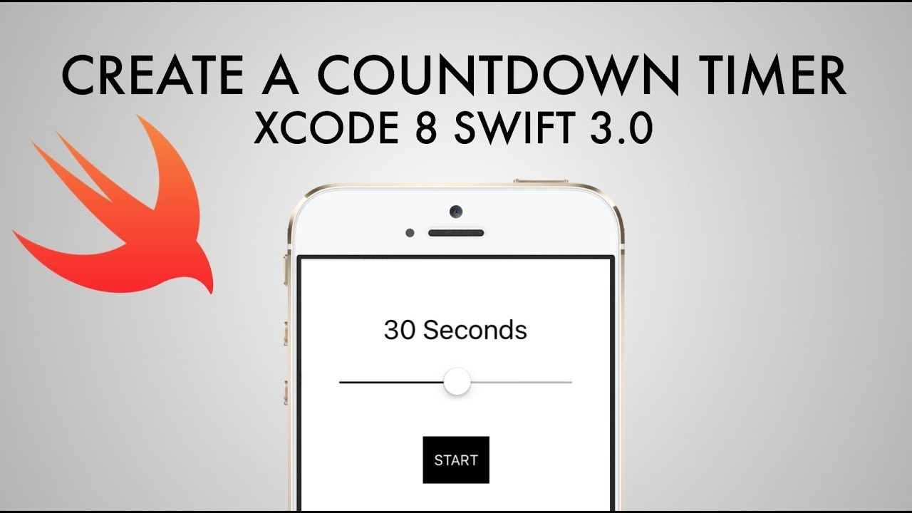 How To Make Countdown Timer App In Xcode 8 (swift 3 0)