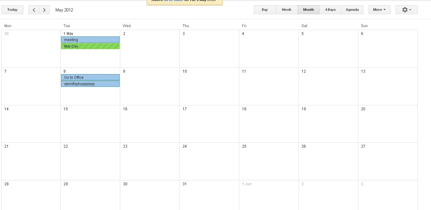 how to make month view calendar like google calendar
