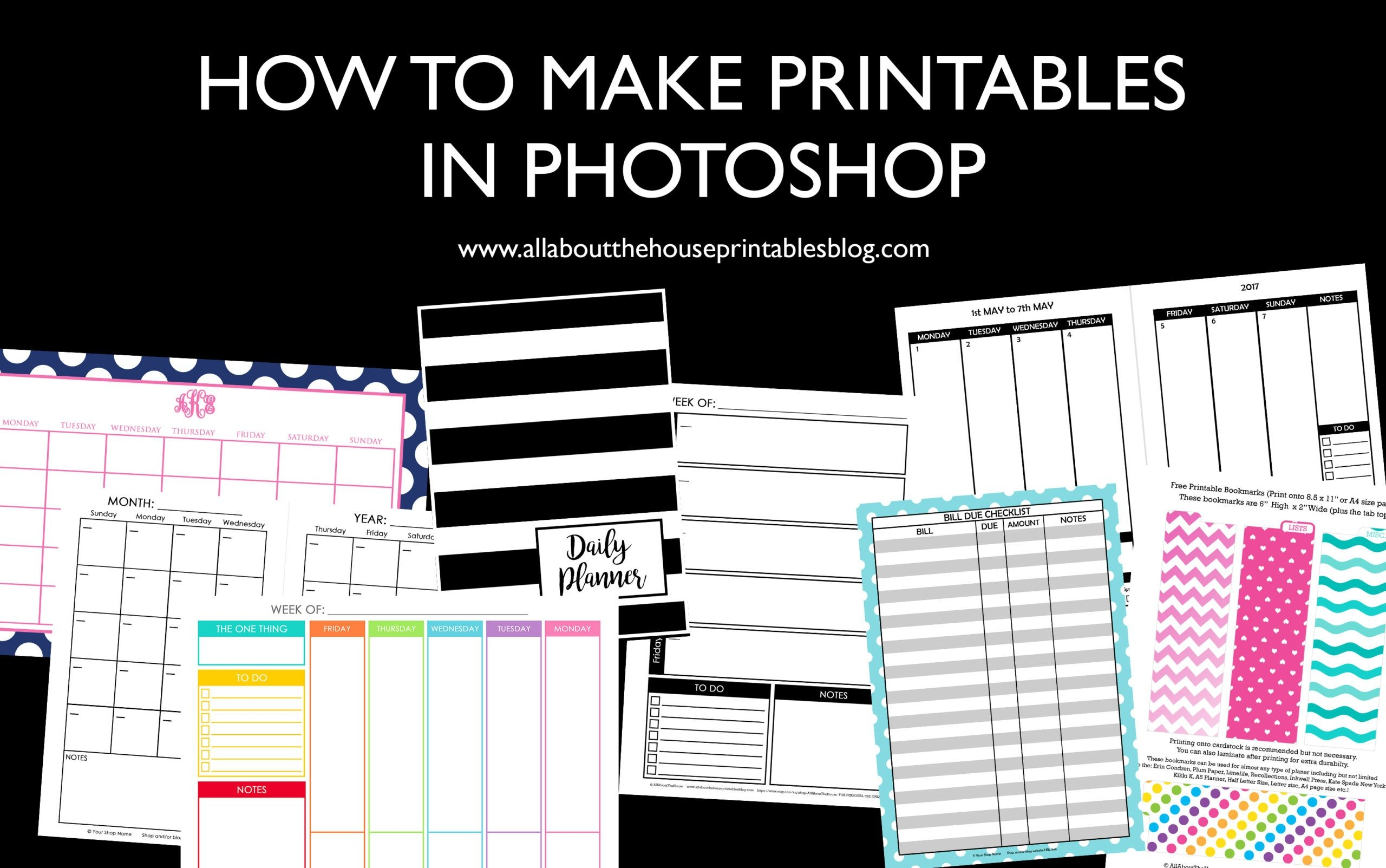 How To Make Printables In Photoshop (stepstep Video