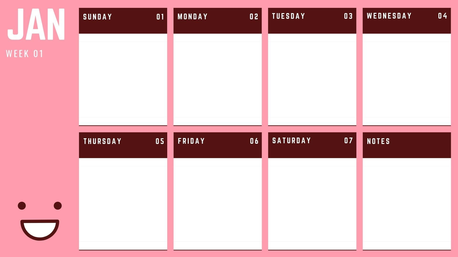 how to plan your weekly schedule