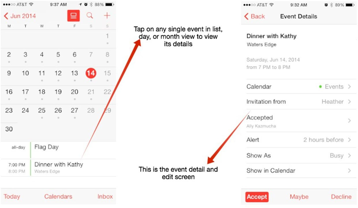 How To Switch Calendar Views On Your Iphone Or Ipad | Imore
