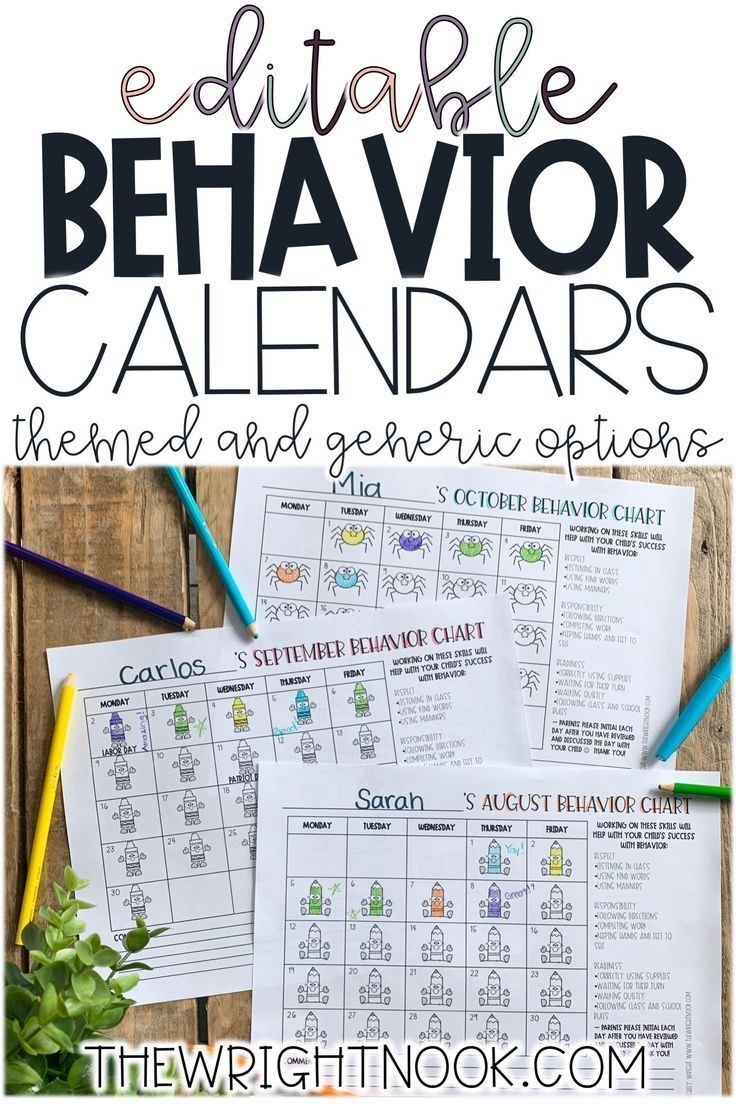 if you're looking for monthly behavior calendars for your