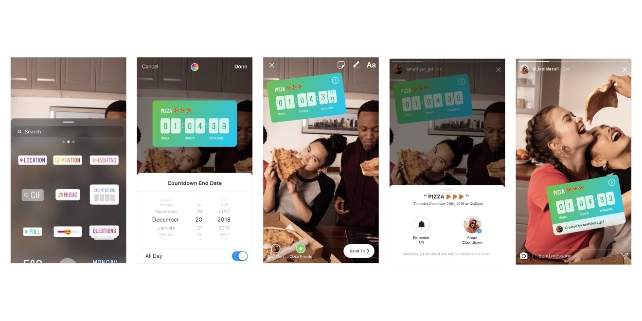 Instagram: Here's How To Use The Countdown Sticker In Stories