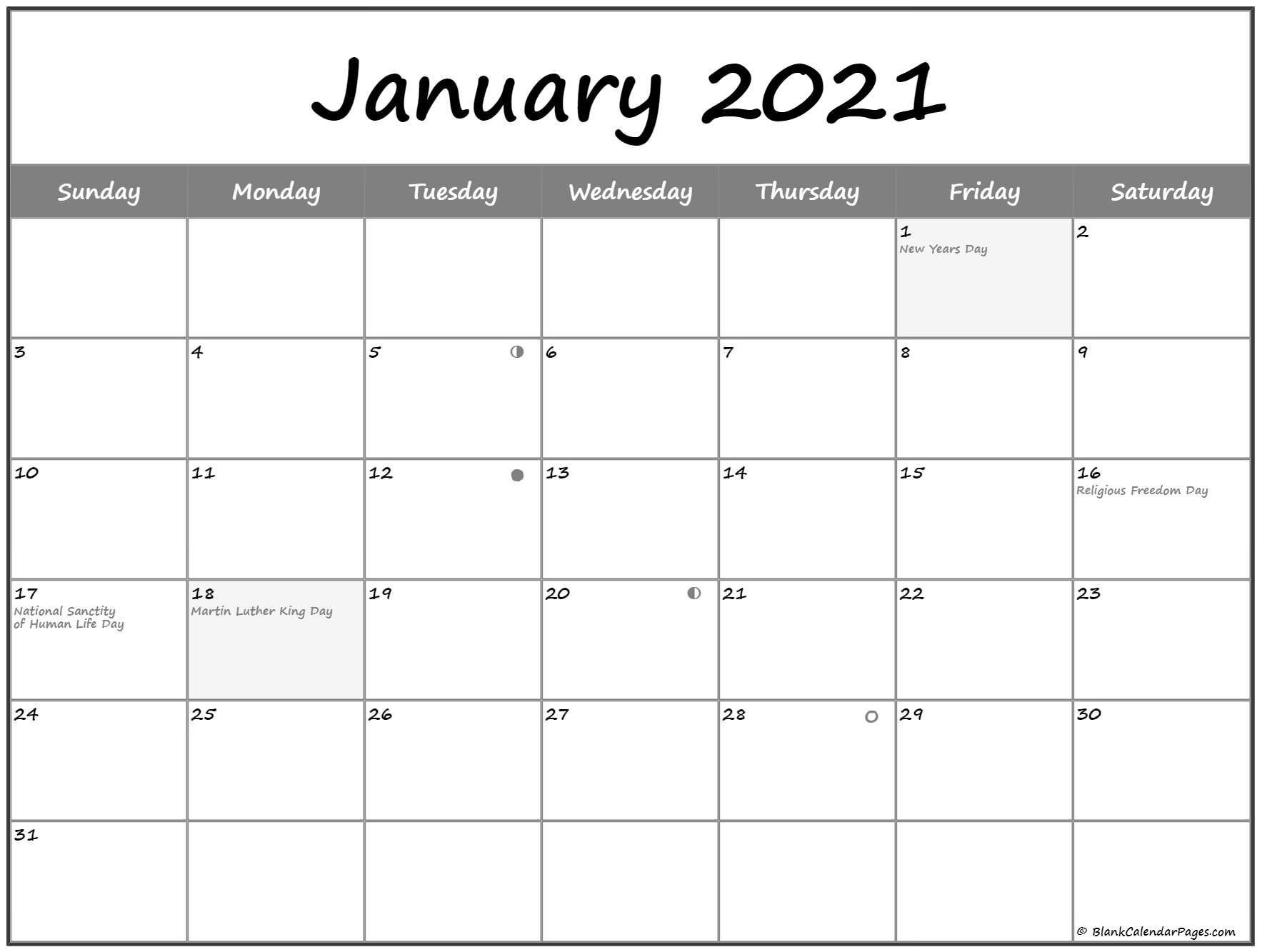 january 2021 lunar calendar   moon phase calendar