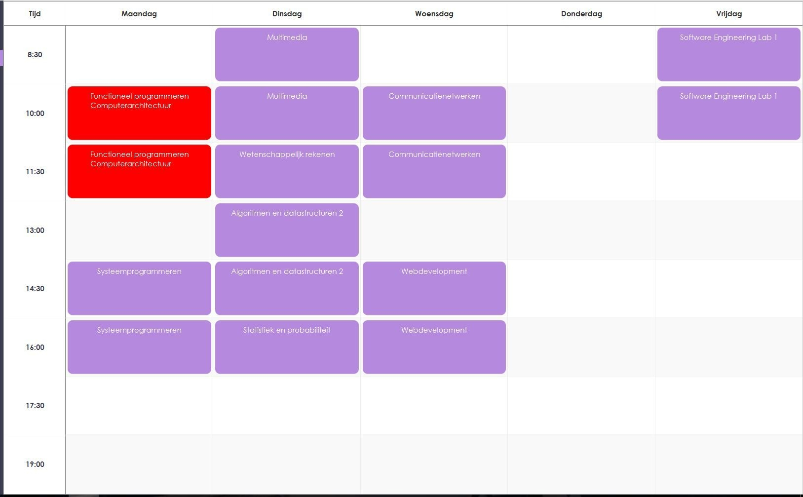 javafx: use a tableview as a calendar and fill it with