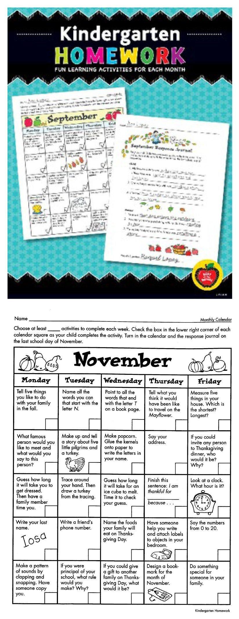 Kindergarten Homework: Fun Learning Activities For Each