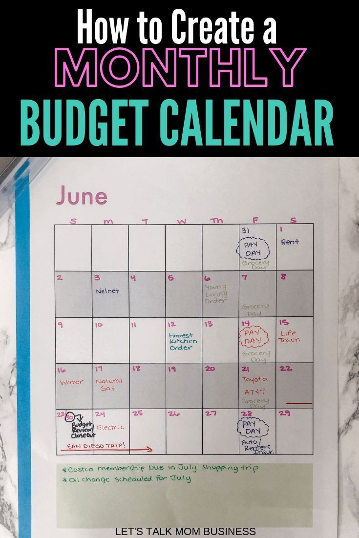 Learn How To Use A Monthly Budgeting Calendar To Track Your