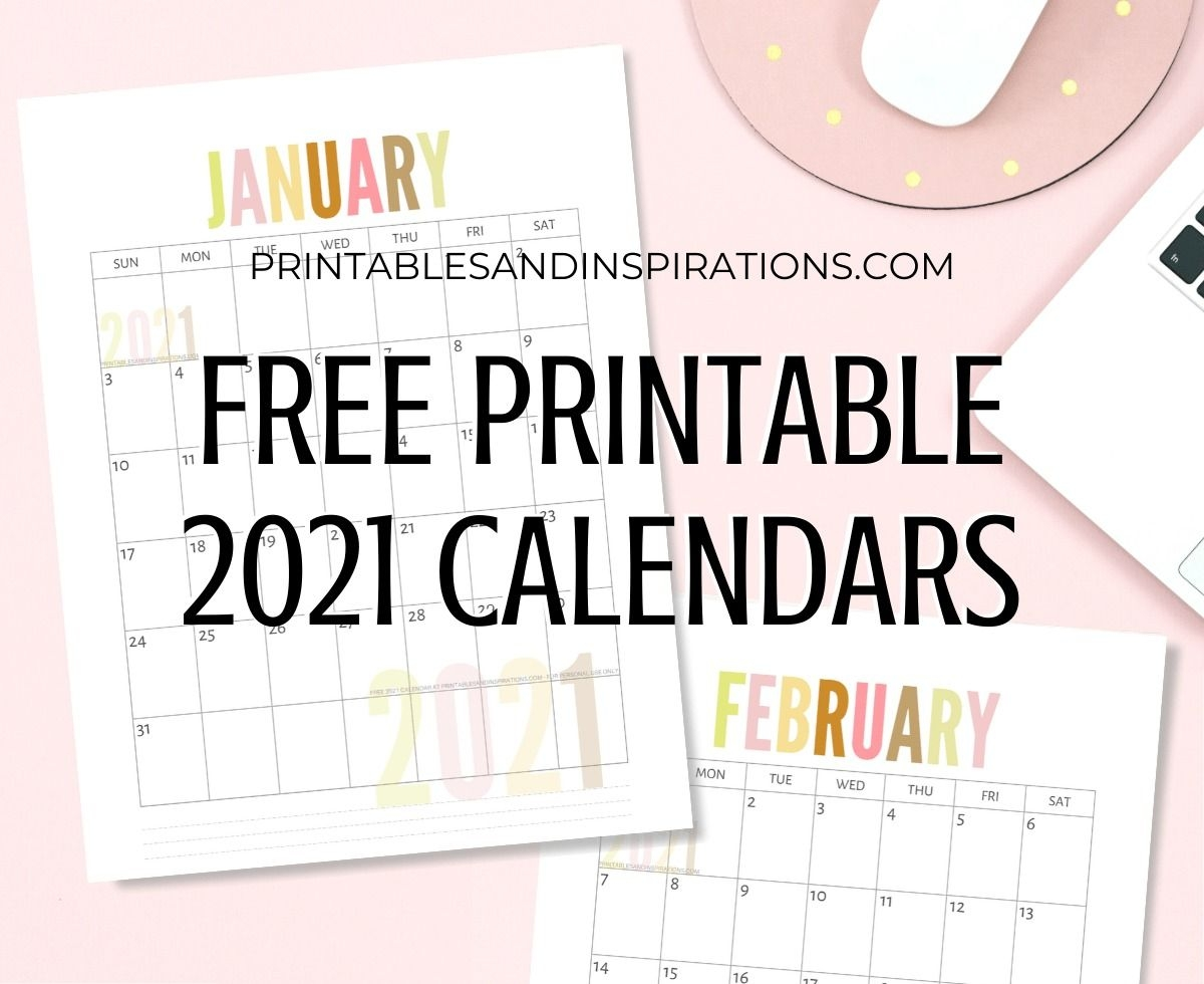 List Of Free Printable 2021 Calendar Pdf Printables And