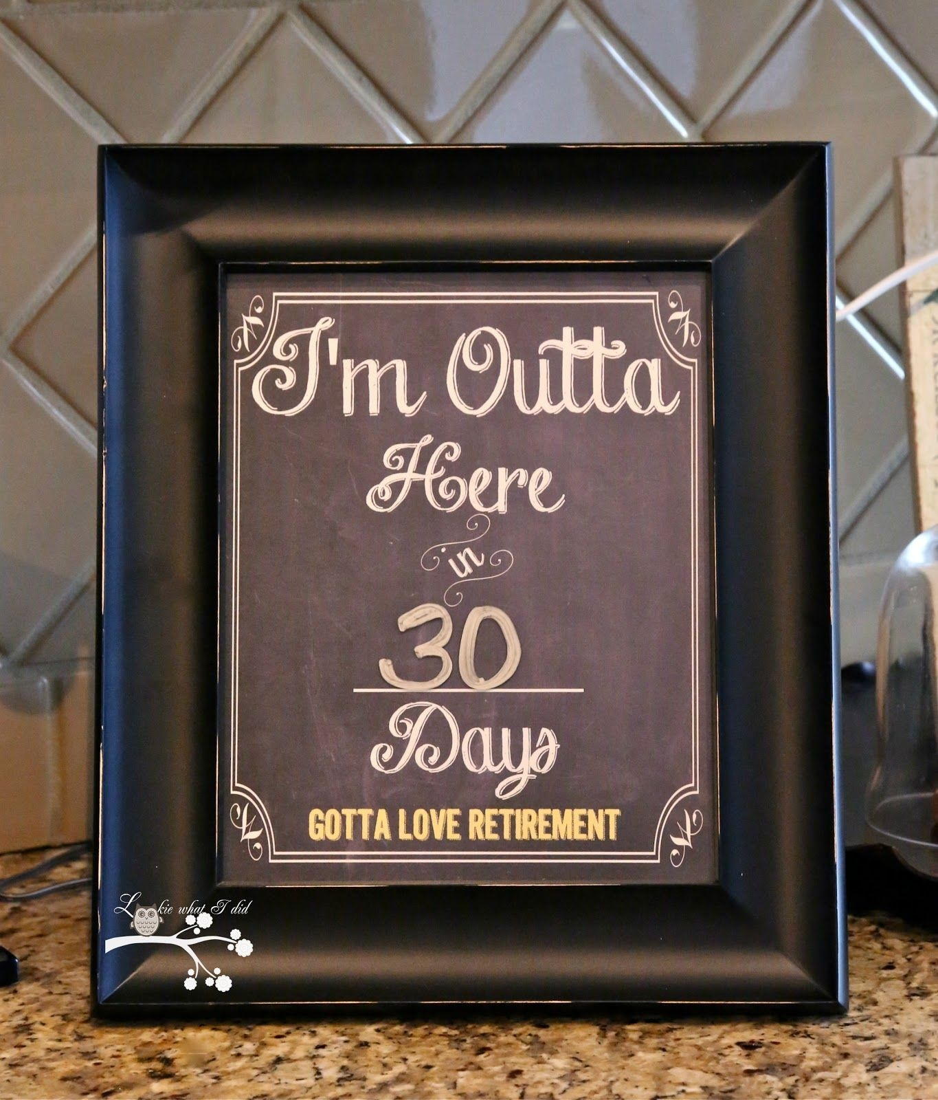 lookie what i did | countdown calendar, retirement countdown
