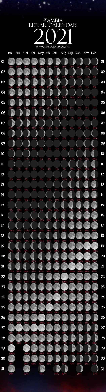 Lunar Calendar 2021 (zambia)
