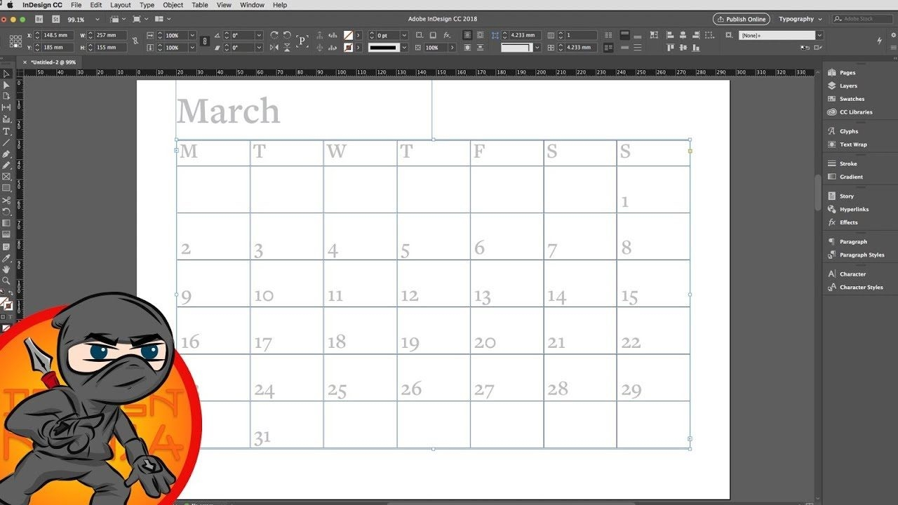 Make A Calendar Layout In Indesign