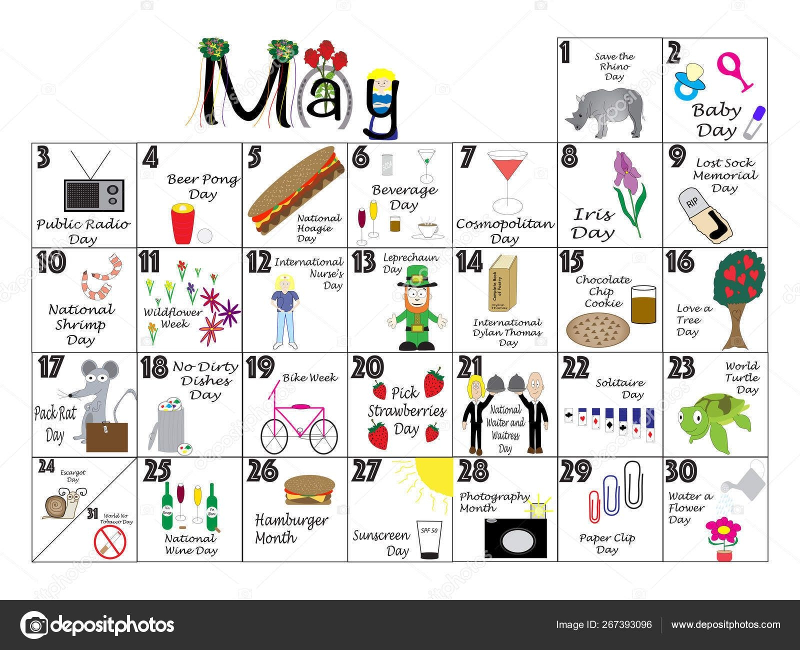 May 2020 Quirky Holidays And Unusual Celebrations Calendar 267393096