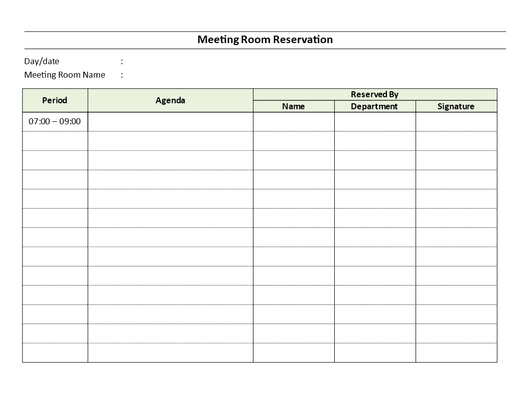 meeting room reservation sheet download this meeting room