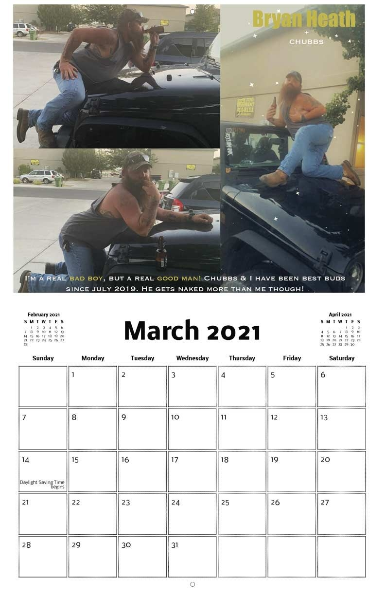 Men On Jeeps 2021 Calendar Fundraising