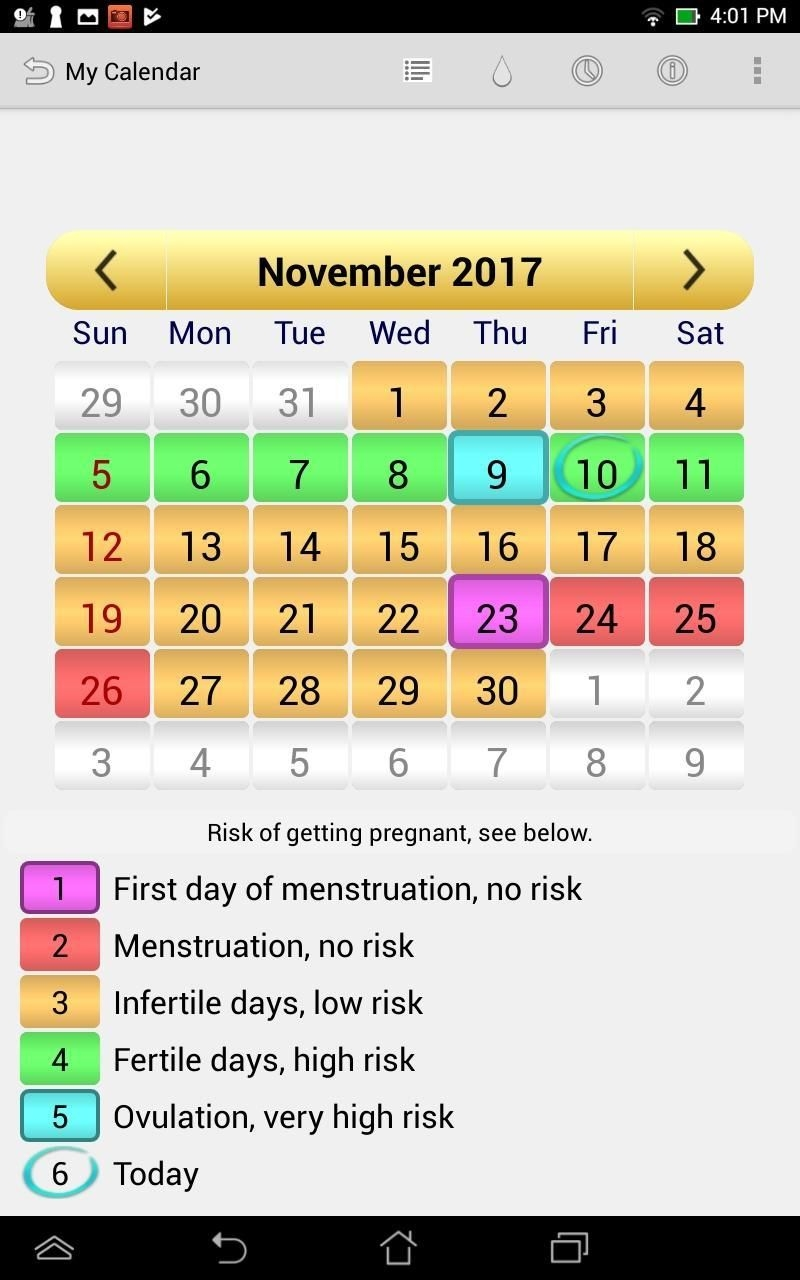 Menstrual Ovulation Calendar For Android Apk Download