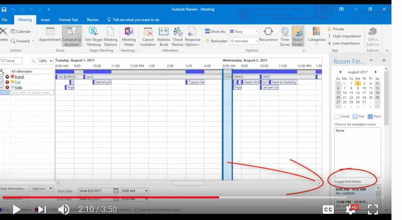 Microsoft Outlook Scheduling Assistant Tool Intivix: It