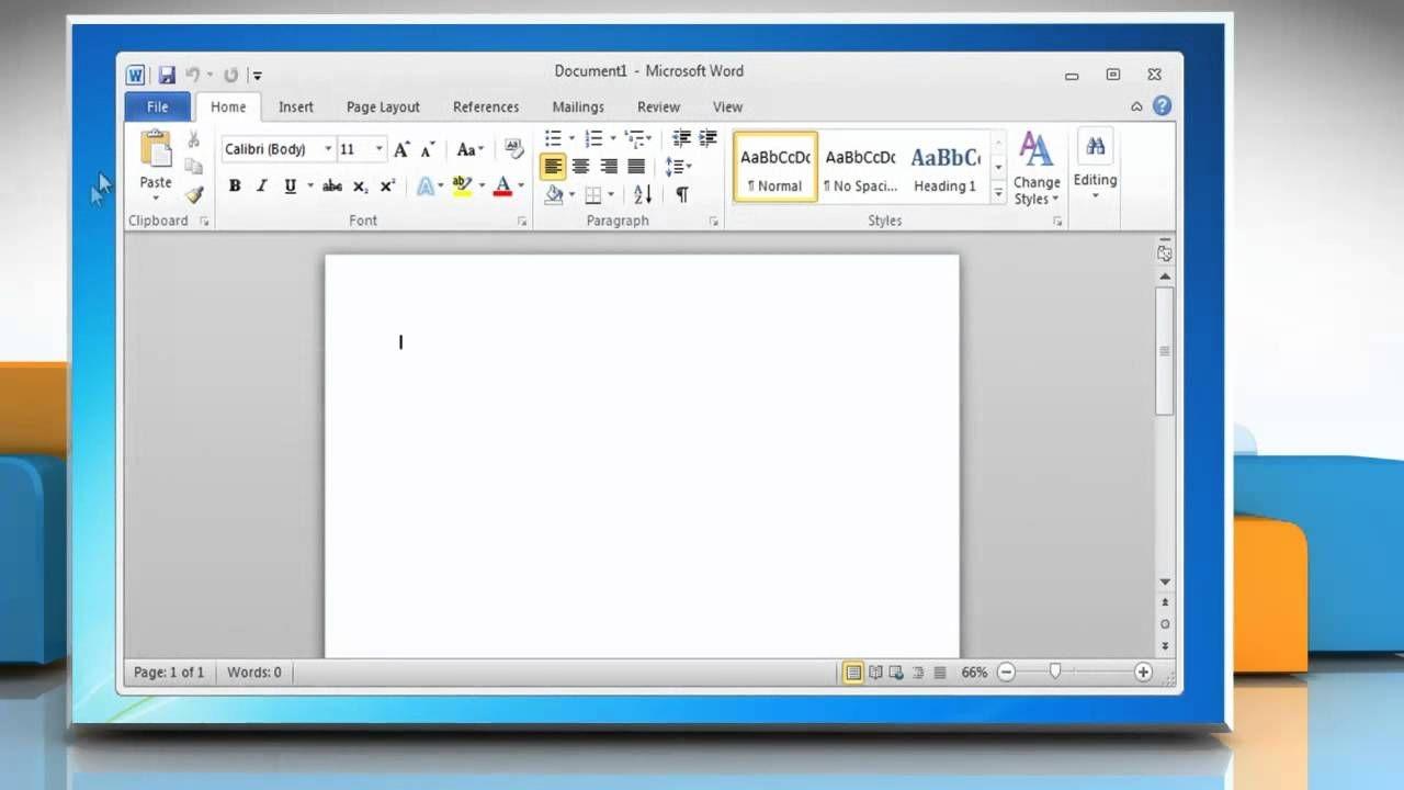 Microsoft® Word 2010: How To Create A Calendar On Windows® 7?