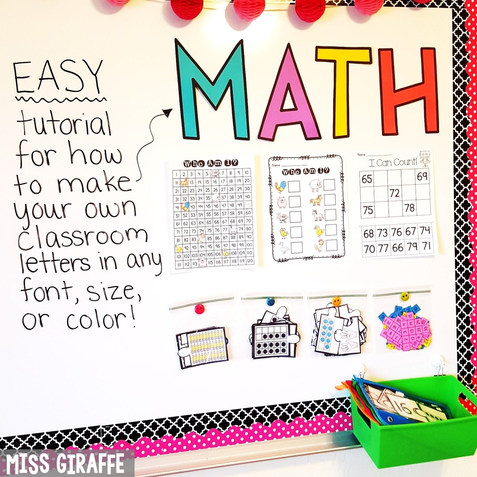 Miss Giraffe's Class: Diy Classroom Decor Bulletin Board Letters