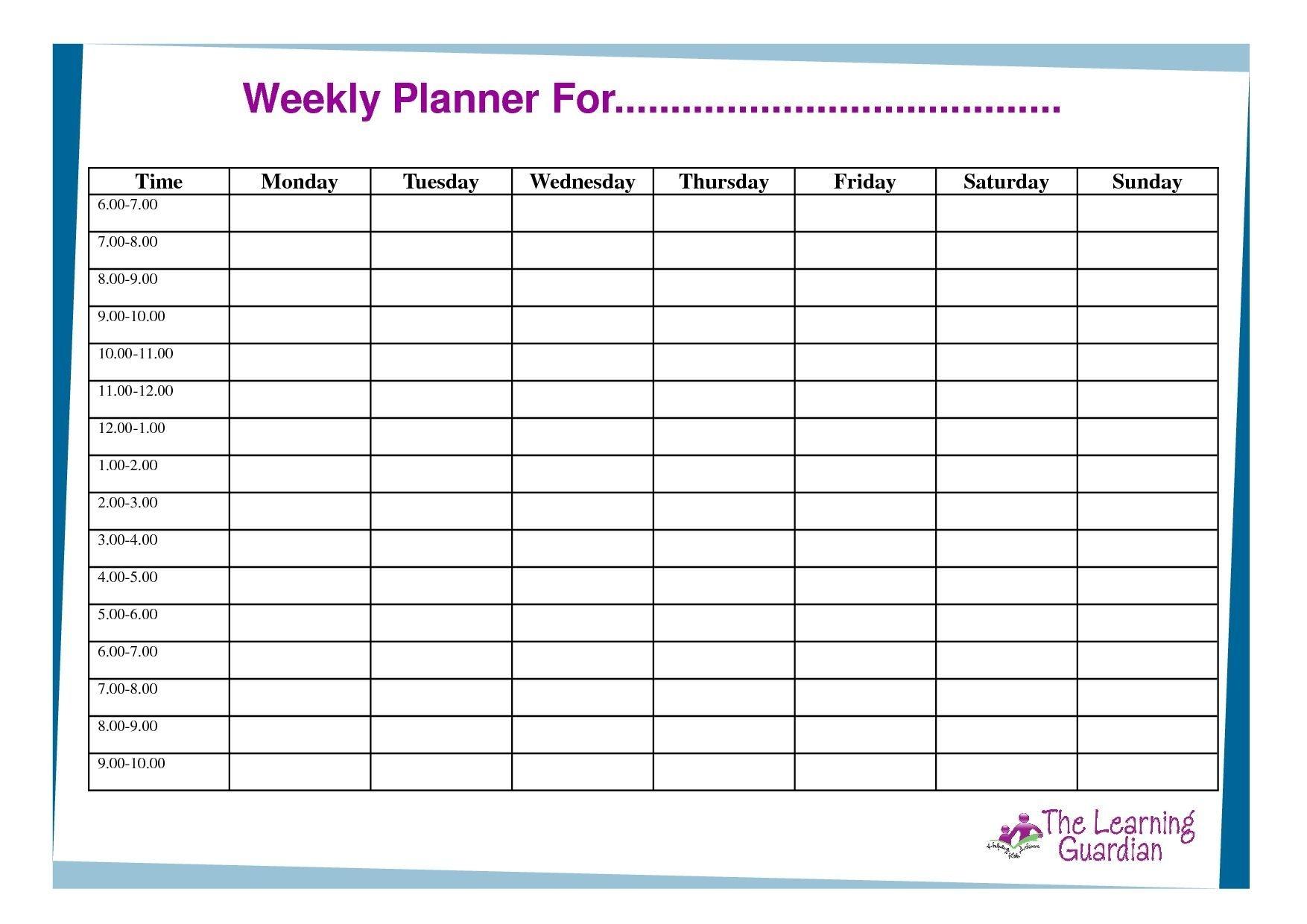 Monday Thru Friday Calendar 2020 Template In 2020 | Blank