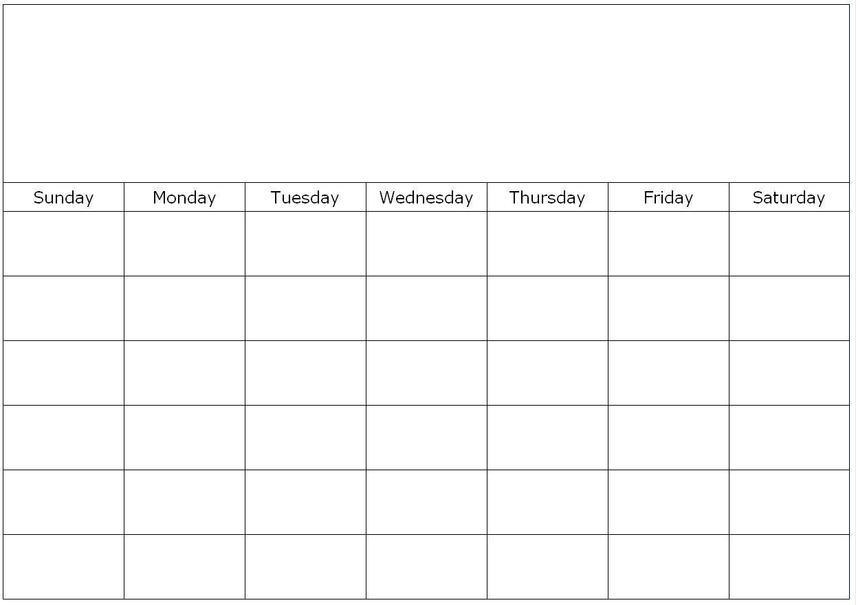 Monthly Blank Calendar Page Get | Blank Calendar, Blank