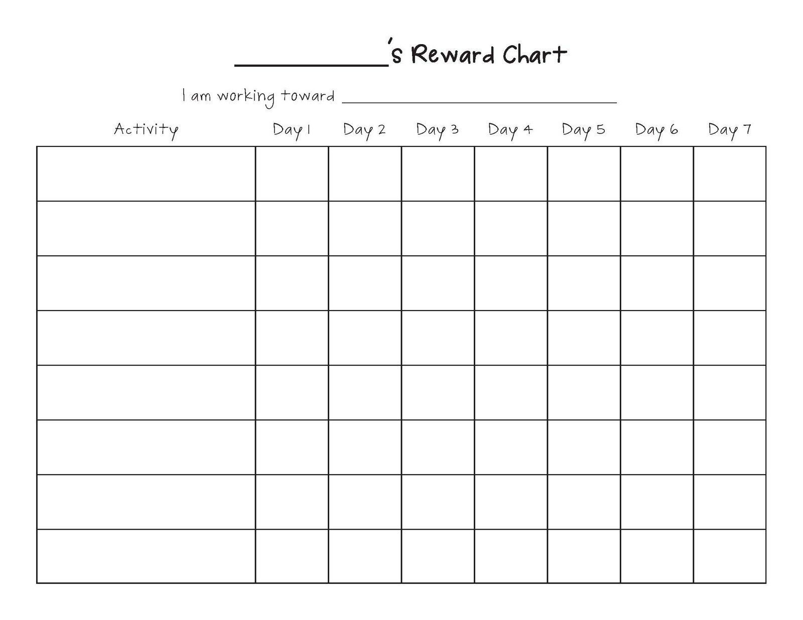 monthly calendar behavior chart in 2020 | reward chart