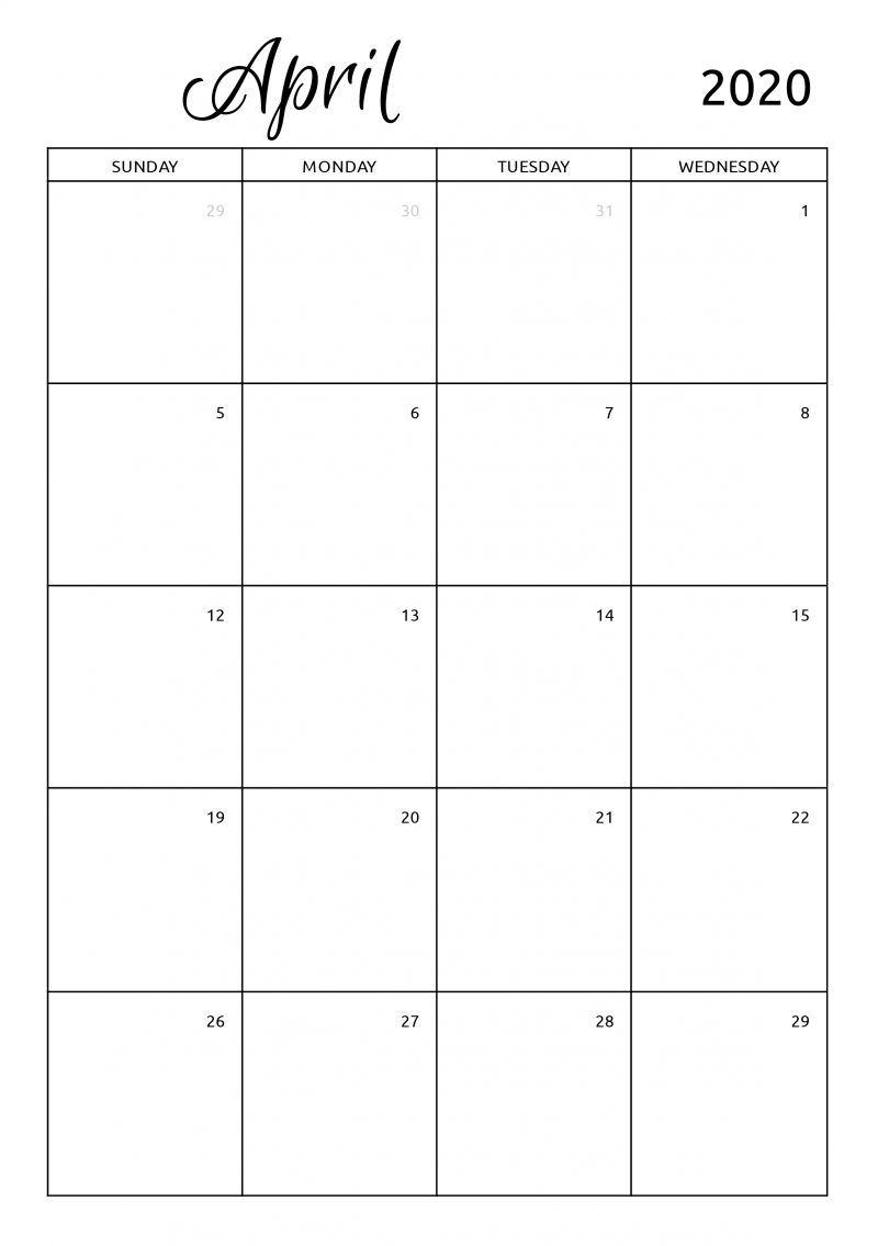 monthly calendar template download pdf