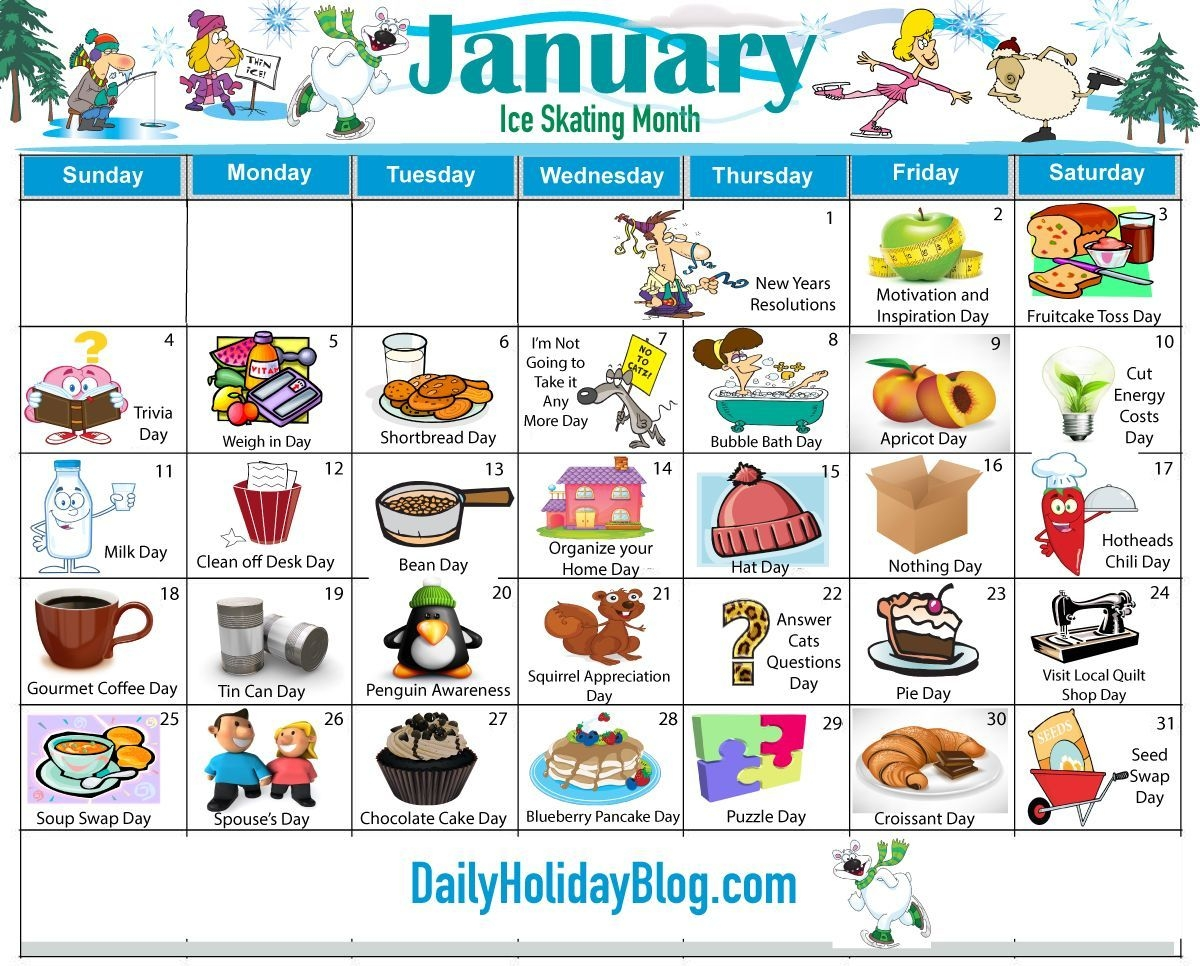 monthly holidays calendars to upload! daily holiday blog