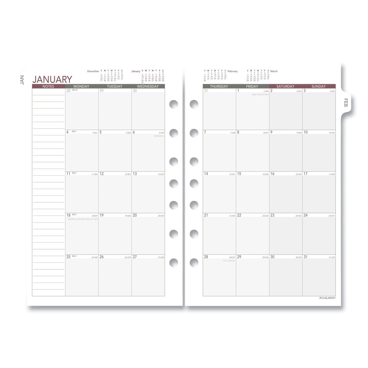monthly planning pages, 8 5 x 5 5, 2021