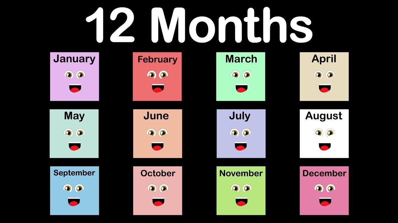 months of the year song/12 months of the year song/calendar song