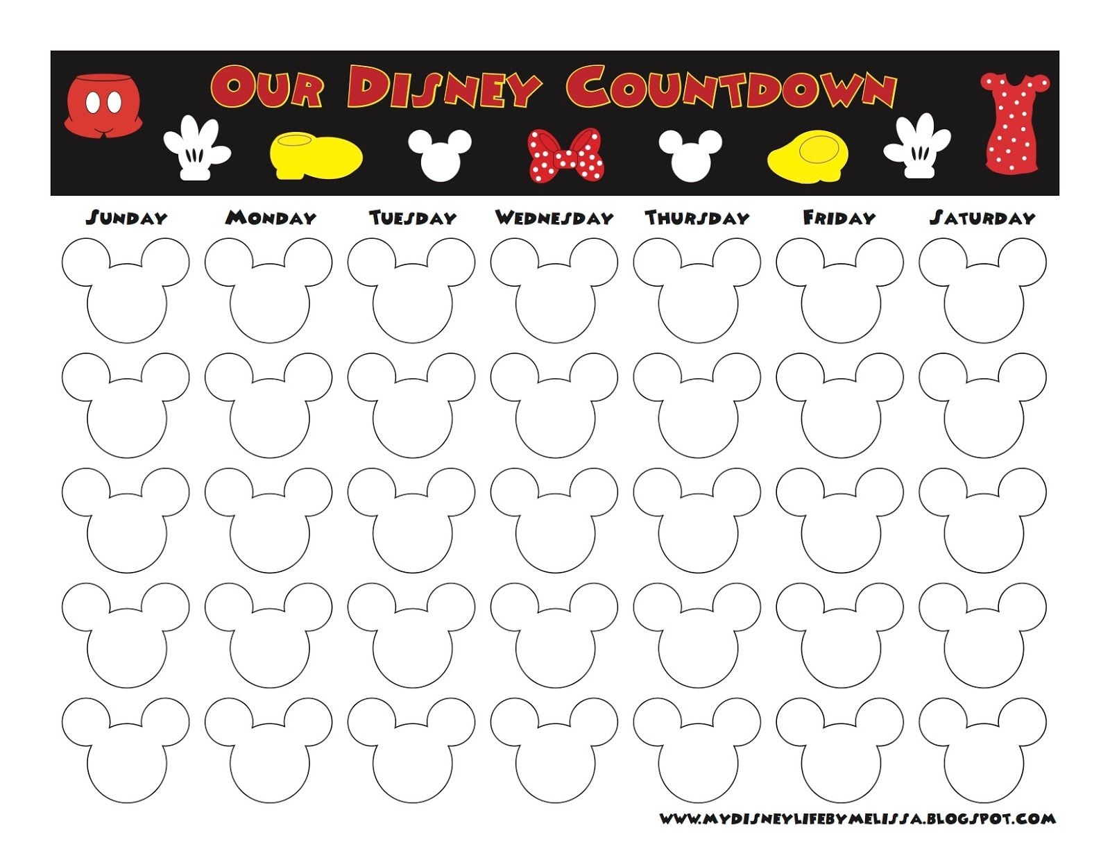 My Disney Life: Countdown Calendars