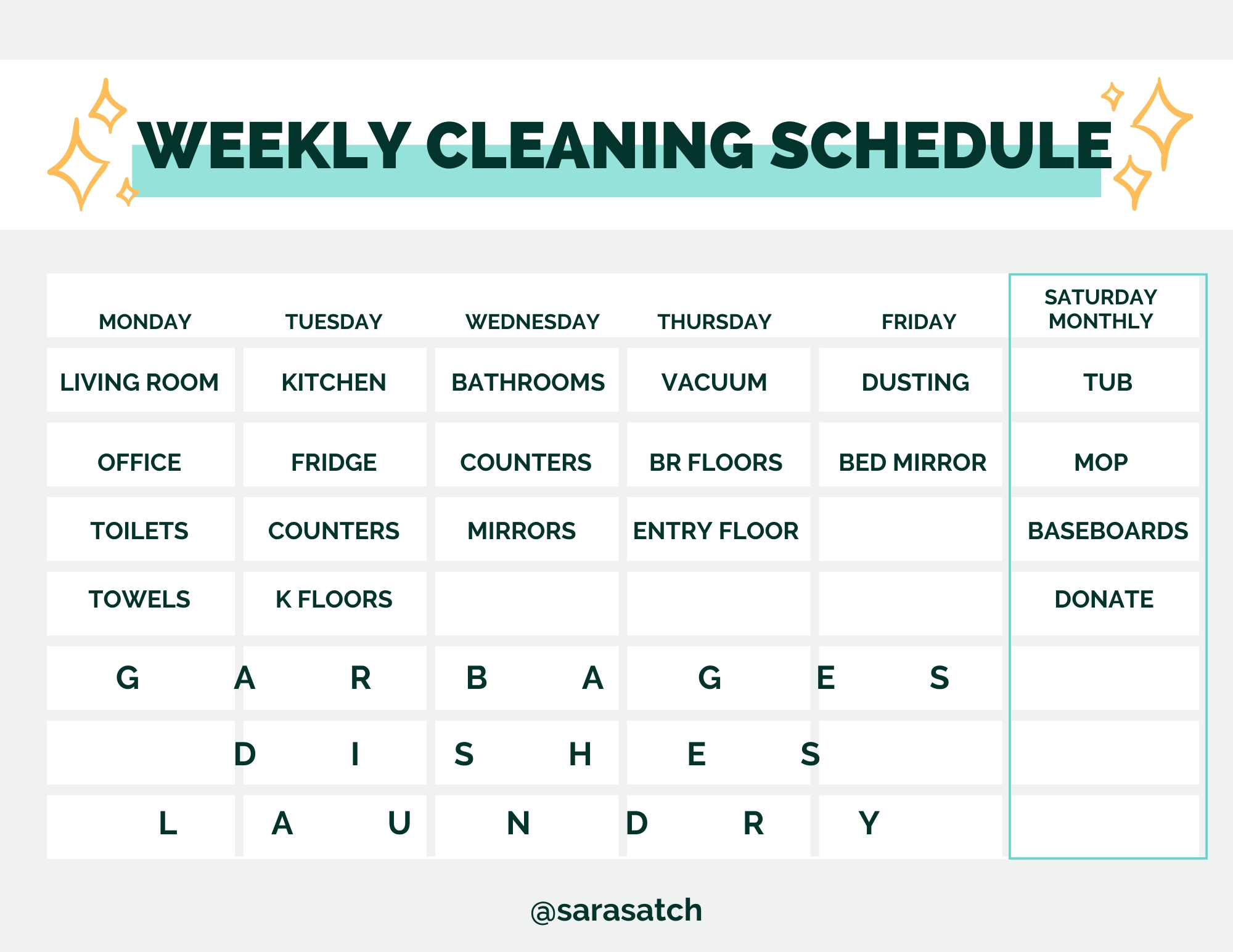my weekly cleaning schedule in 2020 | weekly cleaning