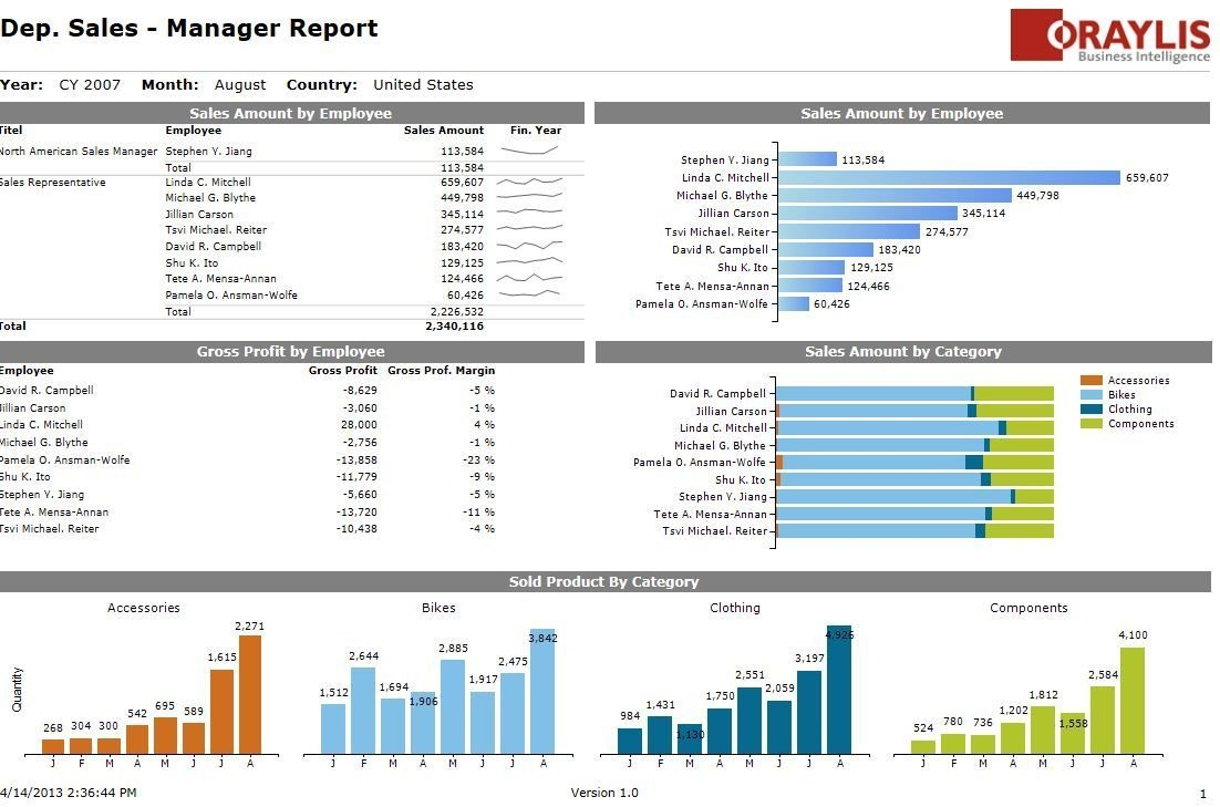 nice looking ssrs (?) report | business intelligence