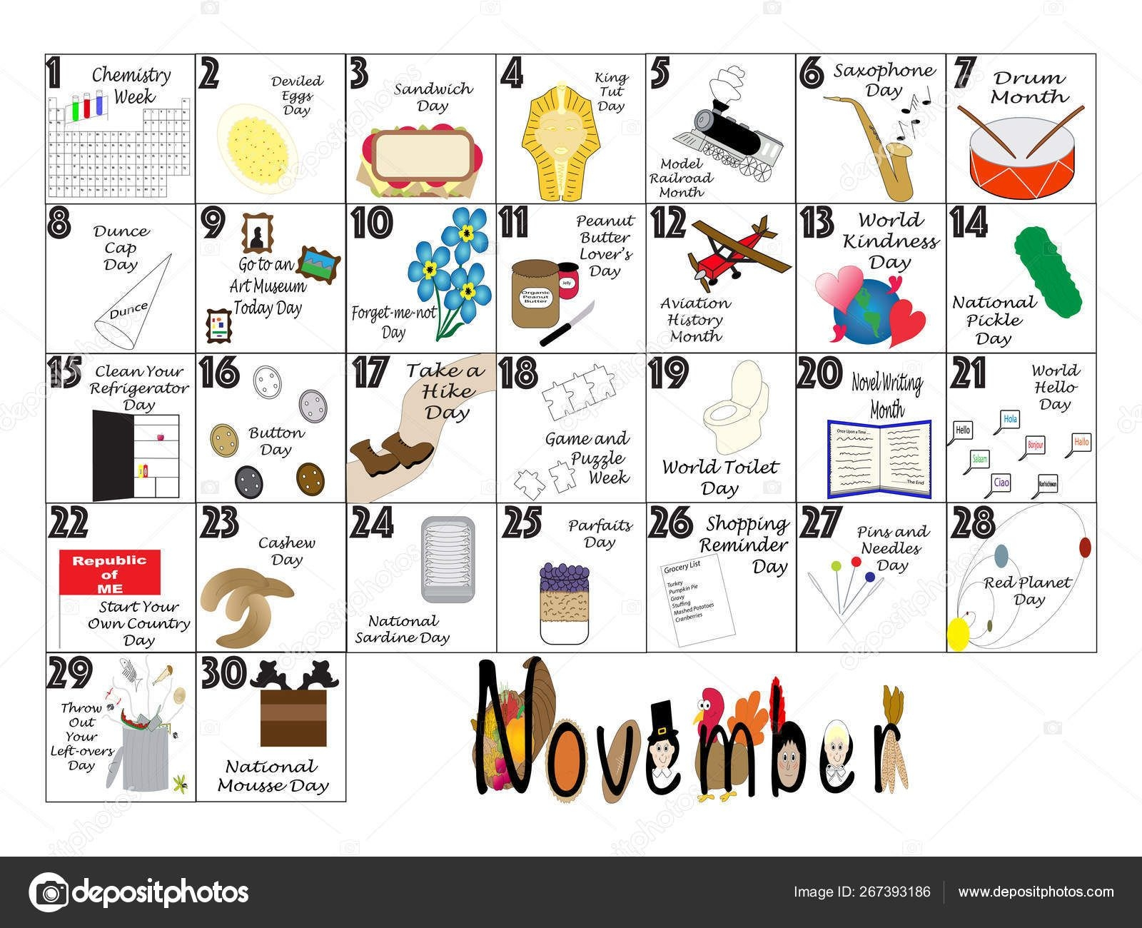 November 2020 Quirky Holidays And Unusual Celebrations Calendar 267393186