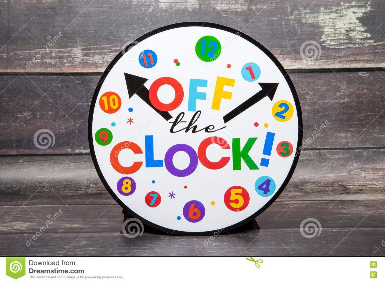 Off The Clock Stock Photo Image Of Retire, Life, Concept
