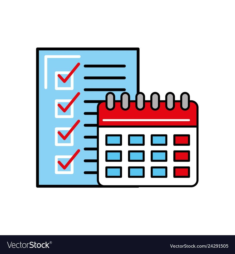 online shopping logistic calendar checklist