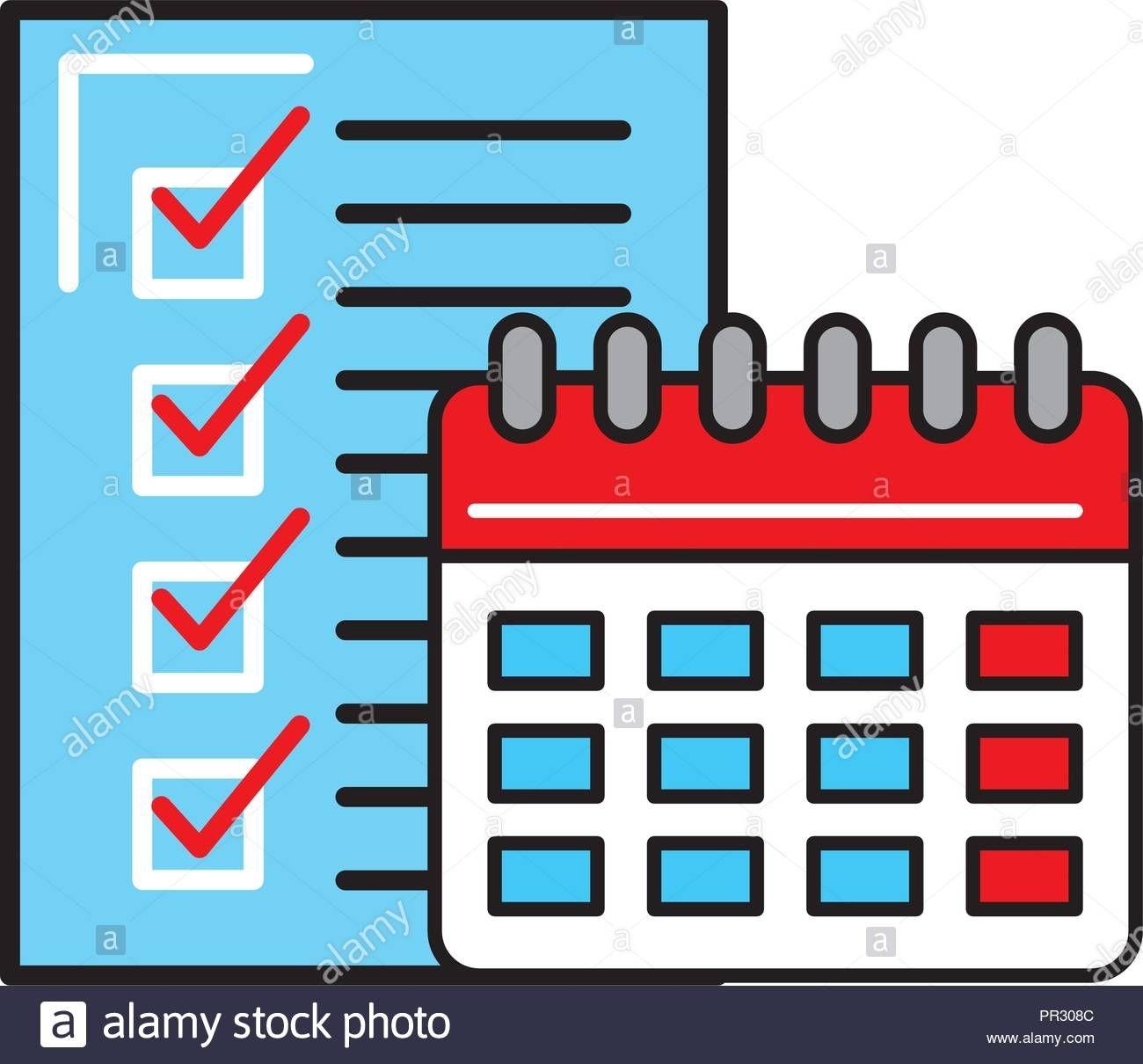 Online Shopping Logistic Calendar Checklist Stock Vector