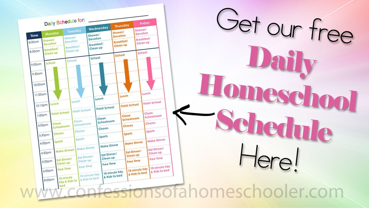 our daily homeschool schedule confessions of a homeschooler
