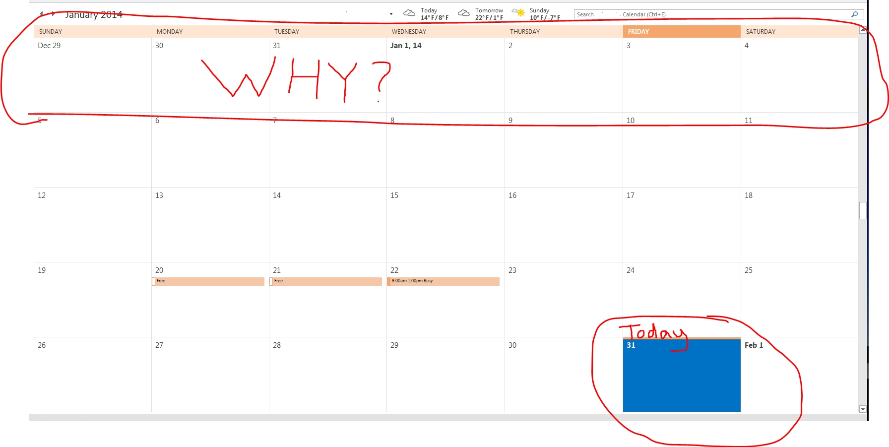 outlook 2013 calendar missing functionality | themattptechblog