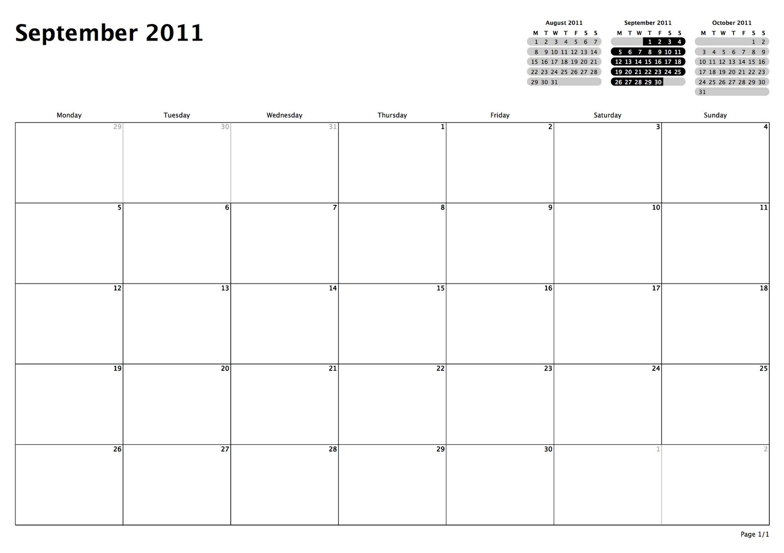philofaxy: monthly view calendars