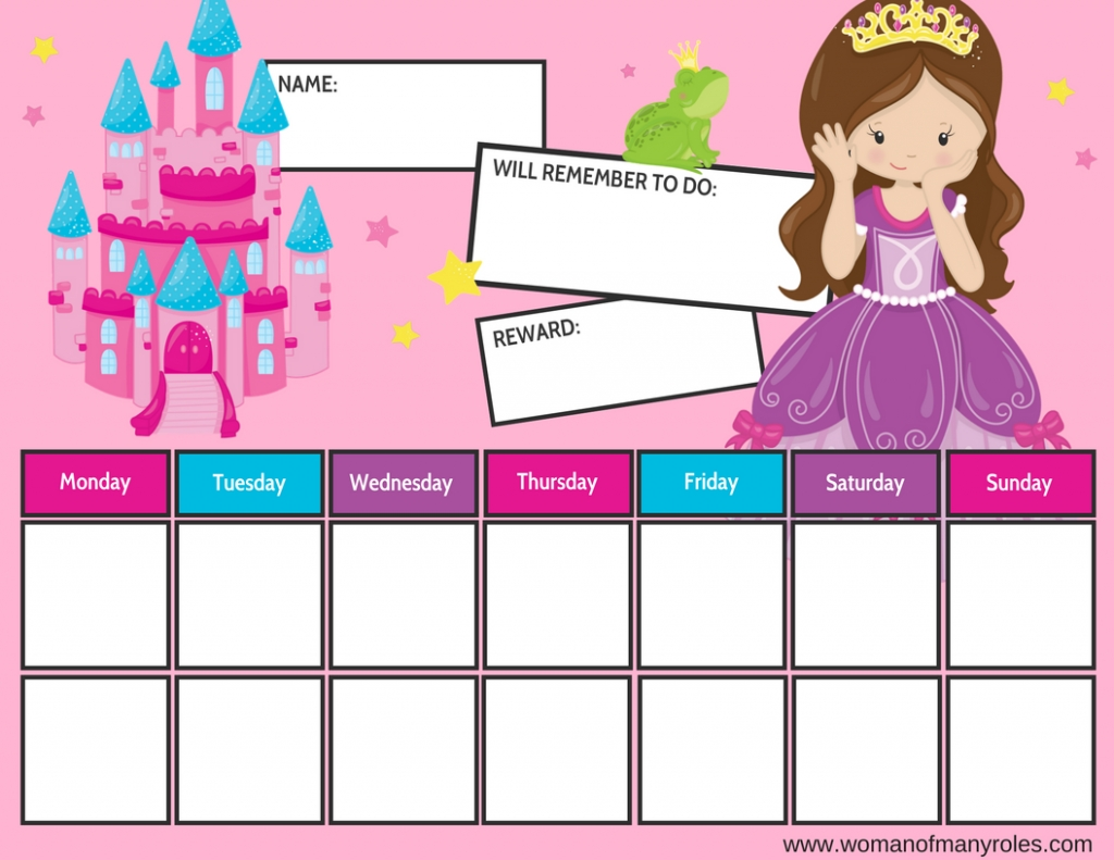 Princess Reward Chart Printable : Woman Of Many Roles