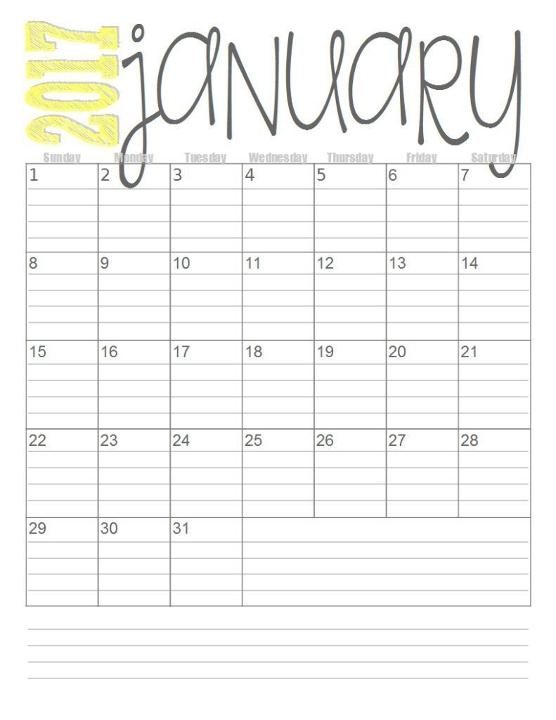 print these simple lined monthly calendars for free