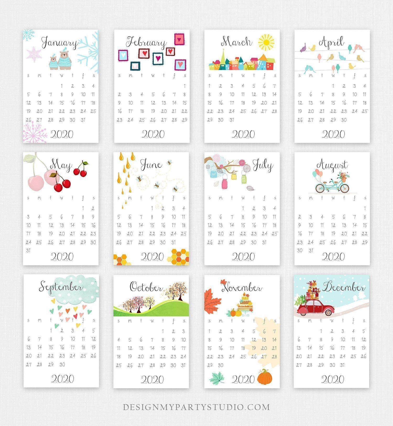 printable 2020 calendar wall calendar desk calendar