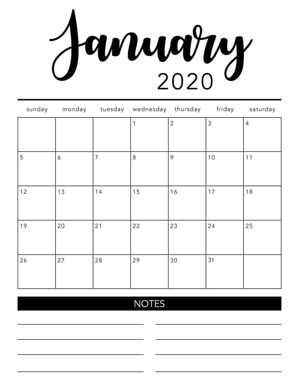 printable 2020 calendarmonth – encouraged in order to