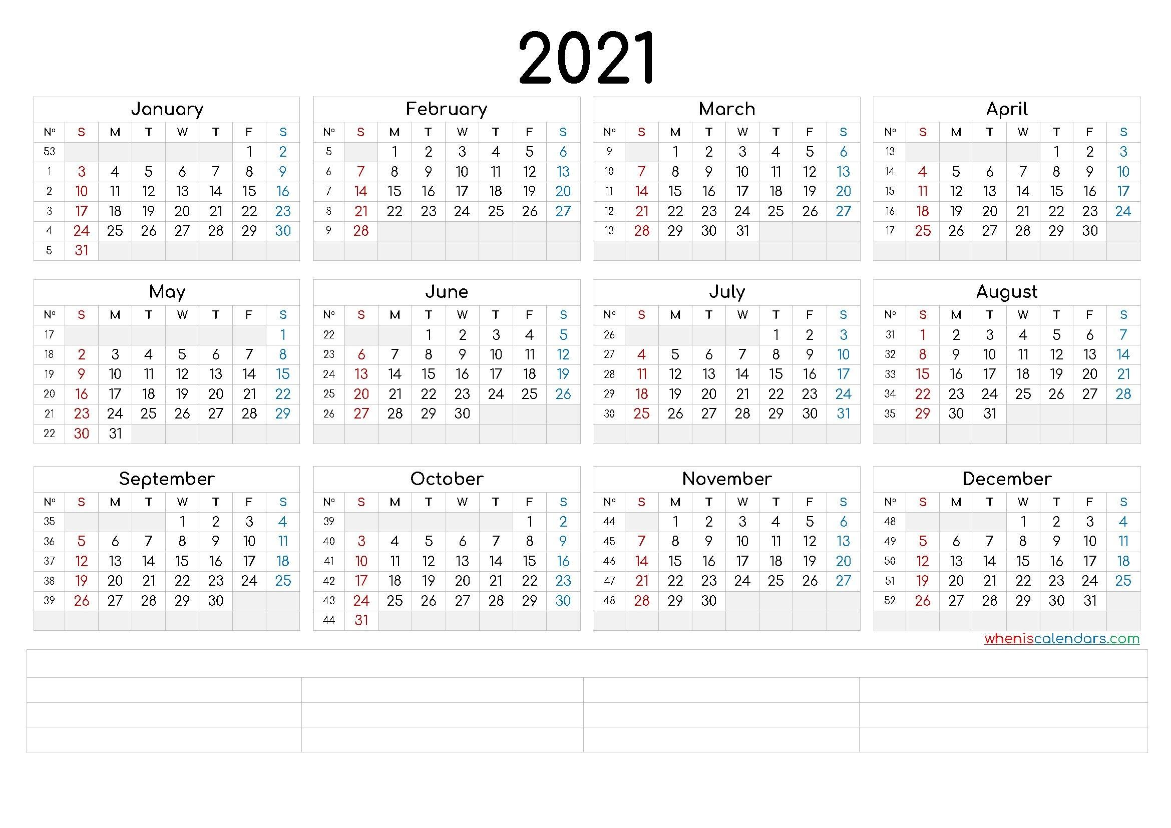 printable 2021 calendaryear (6 templates) – free