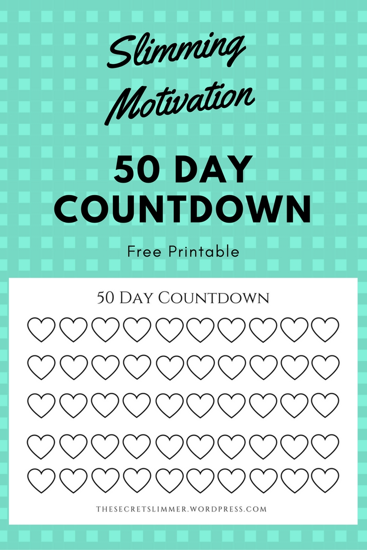 printable: 50 day countdown | day countdown, countdown, day