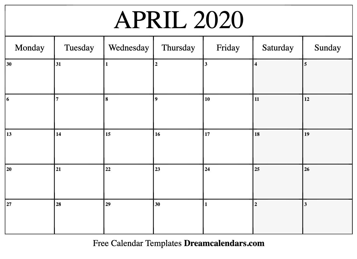 printable april 2020 calendar templates |helena orstem