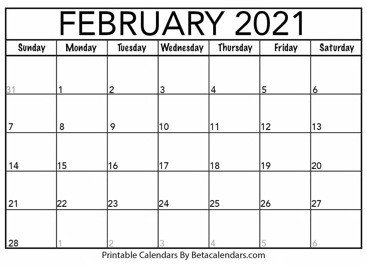 Printable Calendar 2021 | Download & Print Free Blank Calendars